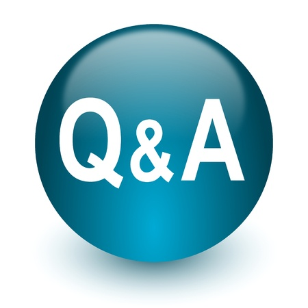 FAQ Blue icon